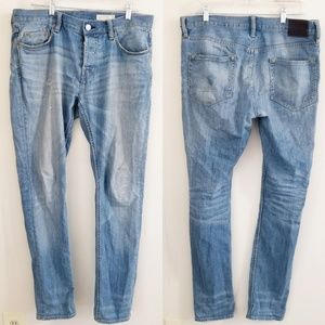 All saints distressed jeans